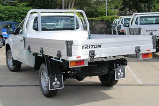 2020 Mitsubishi Triton MR MY21 GLX White 5 Speed Manual Cab Chassis.