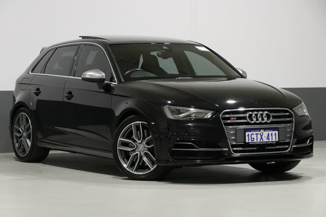 Used Audi S3 8V MY14 Sportback 2.0 TFSI Quattro, 2014 Audi S3 8V MY14 Sportback 2.0 TFSI Quattro Black 6 Speed Direct Shift Hatchback