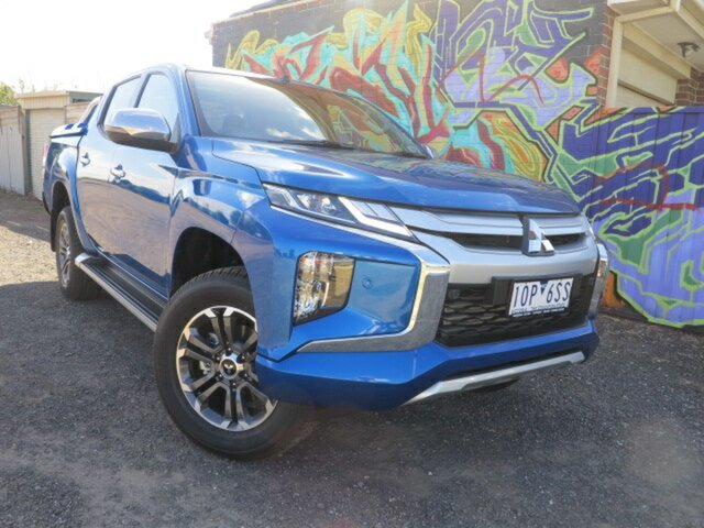 Demo Mitsubishi Triton MR MY19 GLS (4x4), 2019 Mitsubishi Triton MR MY19 GLS (4x4) Impulse Blue 6 Speed Automatic Double Cab Pickup