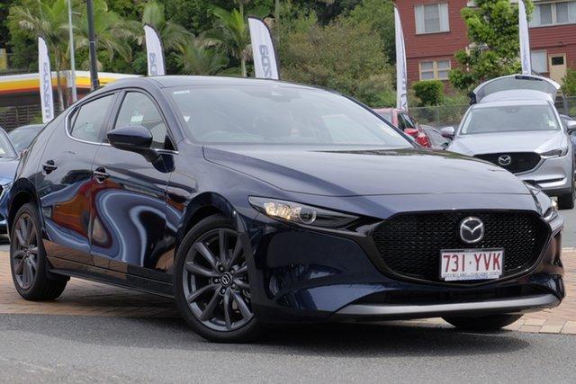 Demo Mazda 3 BP2HLA G25 SKYACTIV-Drive GT, 2019 Mazda 3 BP2HLA G25 SKYACTIV-Drive GT Deep Crystal Blue 6 Speed Sports Automatic Hatchback