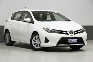 2014 Toyota Corolla ZRE182R Ascent White 7 Speed CVT Auto Sequential Hatchback.