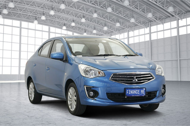 Used Mitsubishi Mirage LA MY16 ES, 2016 Mitsubishi Mirage LA MY16 ES Cyber Blue 1 Speed Constant Variable Sedan