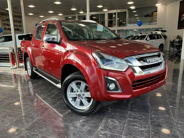 Demo Isuzu D-MAX TF MY18 LS-Terrain HI-Ride (4x4), 2018 Isuzu D-MAX TF MY18 LS-Terrain HI-Ride (4x4) Magnetic Red 6 Speed Automatic Crew Cab Utility