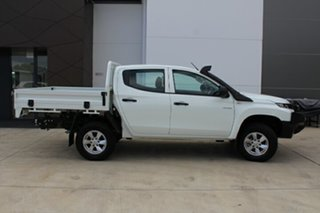 2018 Mitsubishi Triton MR MY19 GLX Double Cab White 6 Speed Manual Cab Chassis.