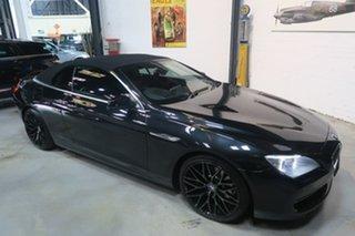 2013 BMW 640i F12 MY1112 Steptronic Black 8 Speed Sports Automatic Convertible