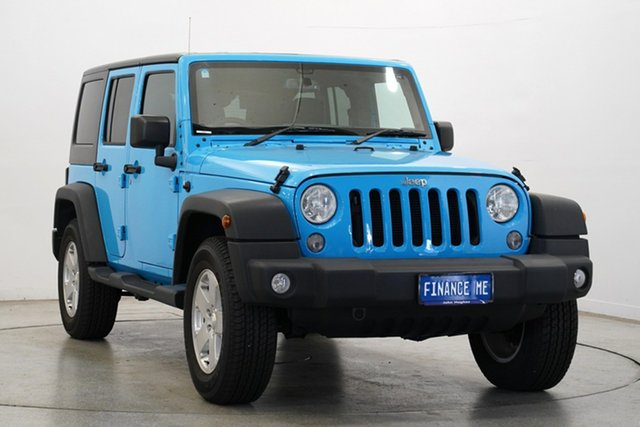 Used Jeep Wrangler JK MY18 Unlimited Sport, 2018 Jeep Wrangler JK MY18 Unlimited Sport Blue 5 Speed Automatic Softtop