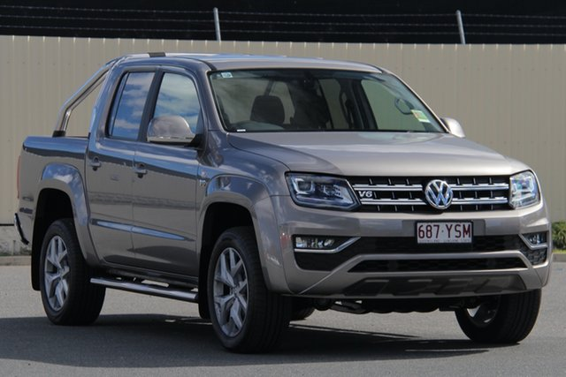 Demo Volkswagen Amarok 2H MY19 TDI550 4MOTION Perm Highline, 2018 Volkswagen Amarok 2H MY19 TDI550 4MOTION Perm Highline Mojave Beige 8 Speed Automatic Utility