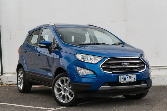 Used Ford Ecosport BL 2019.25MY Titanium, 2018 Ford Ecosport BL 2019.25MY Titanium Blue 6 Speed Automatic Wagon