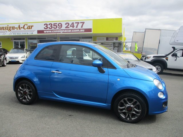 Used Fiat 500 Series 3 S Linea Rossa, 2015 Fiat 500 Series 3 S Linea Rossa Blue 6 Speed Manual Hatchback