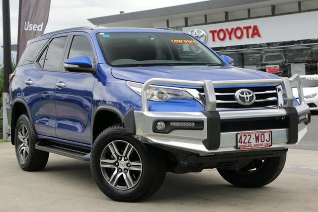 Used Toyota Fortuner GUN156R GXL, 2015 Toyota Fortuner GUN156R GXL Nebula Blue 6 Speed Automatic Wagon