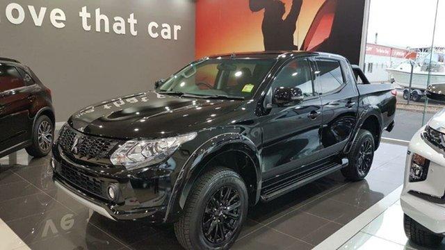 Demo Mitsubishi Triton MQ MY18 GLS (4x4) Blackline, 2018 Mitsubishi Triton MQ MY18 GLS (4x4) Blackline Black 5 Speed Automatic Dual Cab Utility