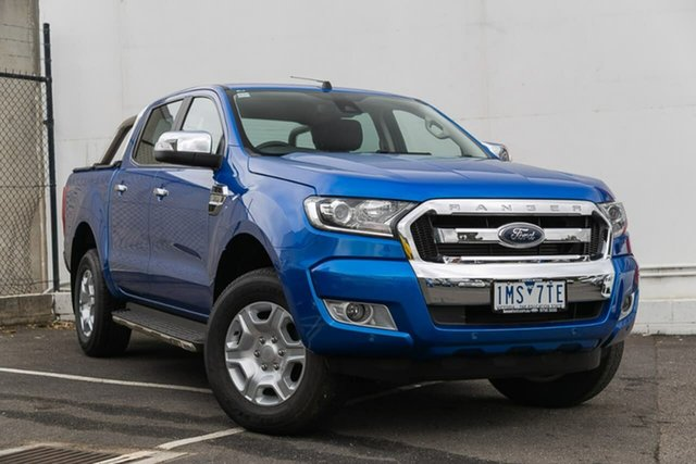 Used Ford Ranger PX MkII 2018.00MY XLT Double Cab 4x2 Hi-Rider, 2018 Ford Ranger PX MkII 2018.00MY XLT Double Cab 4x2 Hi-Rider Blue 6 Speed Sports Automatic Utility