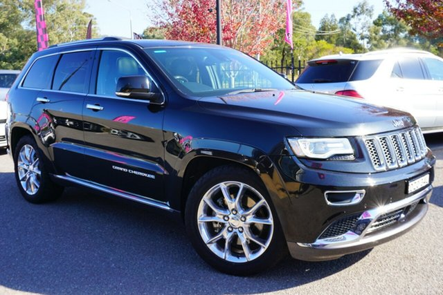 Used Jeep Grand Cherokee WK MY2014 Summit, 2014 Jeep Grand Cherokee WK MY2014 Summit Black 8 Speed Sports Automatic Wagon