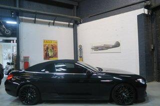 2013 BMW 640i F12 MY1112 Steptronic Black 8 Speed Sports Automatic Convertible.