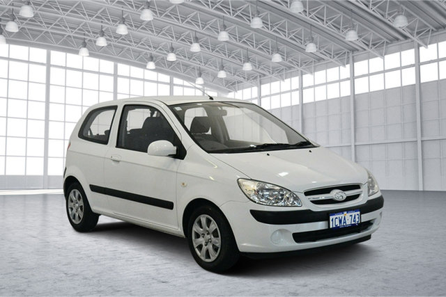 Used Hyundai Getz TB MY07 S, 2008 Hyundai Getz TB MY07 S Noble White 5 Speed Manual Hatchback