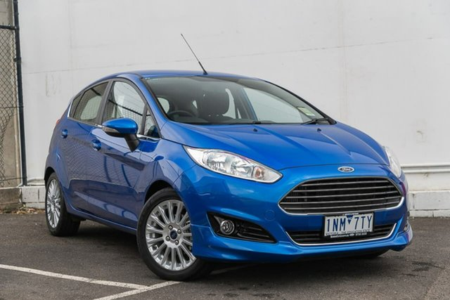 Used Ford Fiesta WZ Sport PwrShift, 2017 Ford Fiesta WZ Sport PwrShift Blue 6 Speed Sports Automatic Dual Clutch Hatchback
