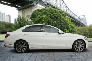 2014 Mercedes-Benz C250 W205 BlueTEC 7G-Tronic + White 7 Speed Sports Automatic Sedan.