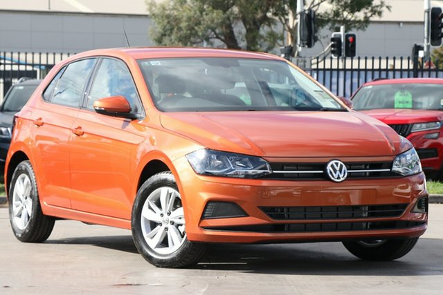 New Volkswagen Polo AW MY19 85TSI DSG Comfortline, 2019 Volkswagen Polo AW MY19 85TSI DSG Comfortline Energetic Orange 7 Speed