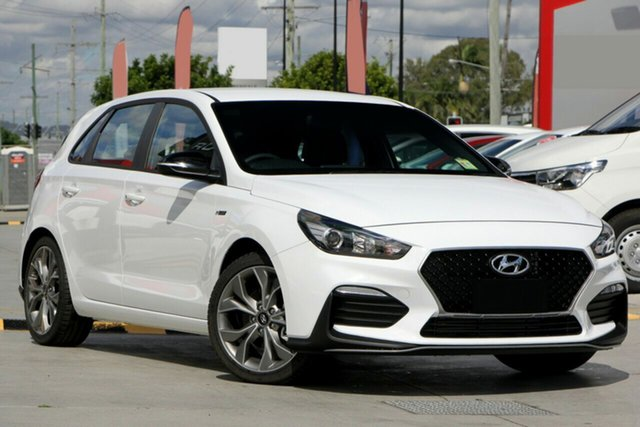 New Hyundai i30 PD.3 MY20 N Line D-CT, 2020 Hyundai i30 PD.3 MY20 N Line D-CT Polar White 7 Speed Sports Automatic Dual Clutch Hatchback