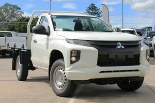 2019 Mitsubishi Triton MR MY19 GLX White 6 Speed Manual Cab Chassis.