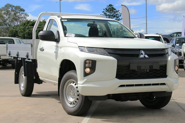 New Mitsubishi Triton MR MY19 GLX, 2019 Mitsubishi Triton MR MY19 GLX White 6 Speed Manual Cab Chassis