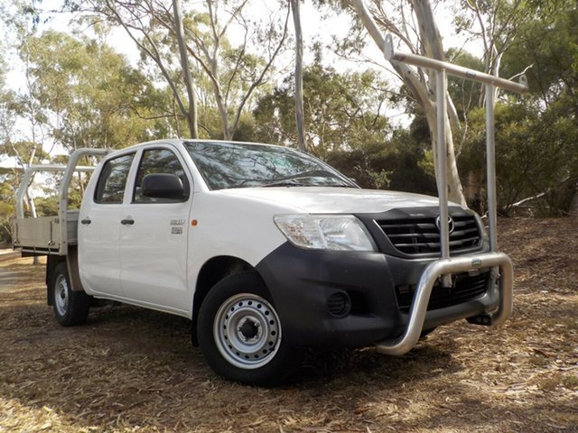 Used Toyota Hilux TGN16R MY14 Workmate Double Cab 4x2, 2013 Toyota Hilux TGN16R MY14 Workmate Double Cab 4x2 5 Speed Manual Utility