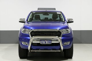 2016 Ford Ranger PX MkII XLT 3.2 (4x4) Blue 6 Speed Automatic Dual Cab Utility.