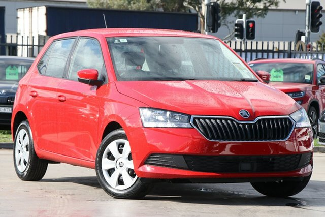 New Skoda Fabia NJ MY20 81TSI DSG, 2019 Skoda Fabia NJ MY20 81TSI DSG Corrida Red 7 Speed Sports Automatic Dual Clutch Hatchback