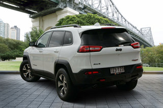 2014 Jeep Cherokee KL Trailhawk White 9 Speed Sports Automatic Wagon.