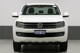 2014 Volkswagen Amarok 2H MY14 TDI400 Trendline (4x4) White 6 Speed Manual Dual Cab Utility.