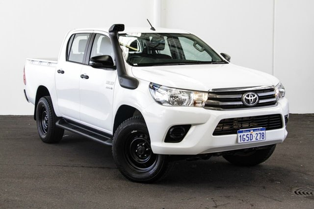 Used Toyota Hilux GUN126R SR Double Cab, 2018 Toyota Hilux GUN126R SR Double Cab Glacier White 6 Speed Sports Automatic Utility