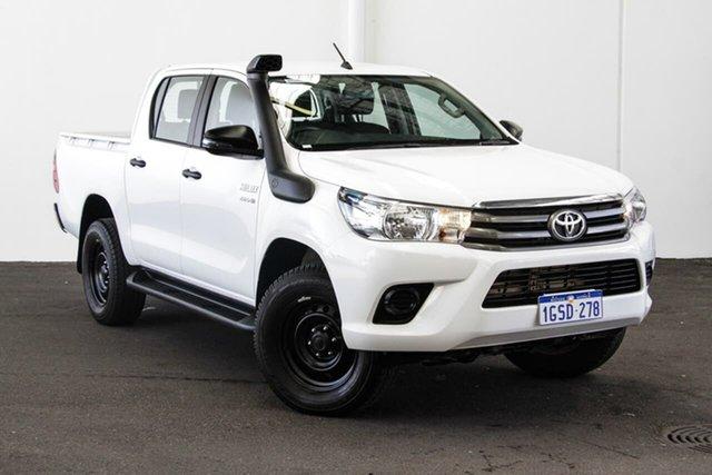 Used Toyota Hilux GUN126R MY17 SR (4x4), 2018 Toyota Hilux GUN126R MY17 SR (4x4) Glacier White 6 Speed Automatic Dual Cab Utility