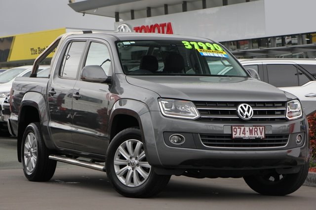 Used Volkswagen Amarok 2H MY16 TDI420 4Motion Perm Highline, 2016 Volkswagen Amarok 2H MY16 TDI420 4Motion Perm Highline Grey 8 Speed Automatic Utility