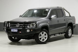 2013 Volkswagen Amarok 2H MY13 TDI400 Highline (4x4) Grey 6 Speed Manual Dual Cab Utility.