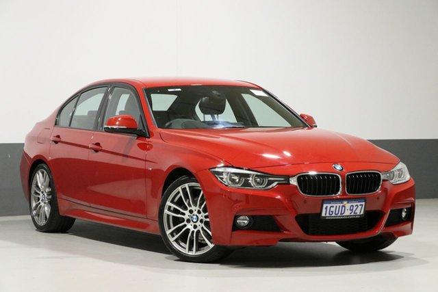 Used BMW 330i F30 LCI MY18 M Sport, 2018 BMW 330i F30 LCI MY18 M Sport Melbourne Red 8 Speed Automatic Sedan