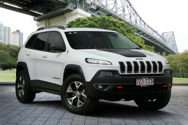 Used Jeep Cherokee KL Trailhawk, 2014 Jeep Cherokee KL Trailhawk White 9 Speed Sports Automatic Wagon