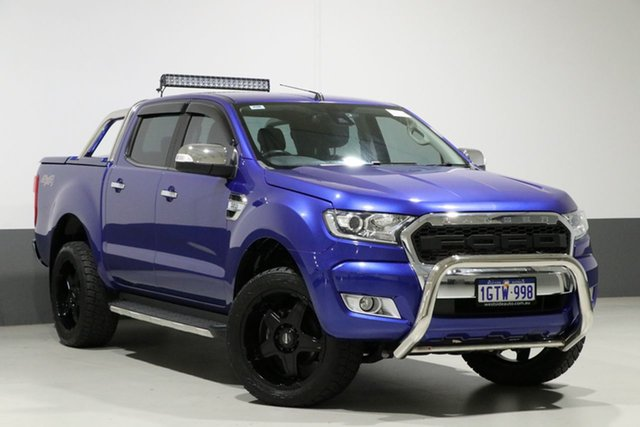 Used Ford Ranger PX MkII XLT 3.2 (4x4), 2016 Ford Ranger PX MkII XLT 3.2 (4x4) Blue 6 Speed Automatic Dual Cab Utility