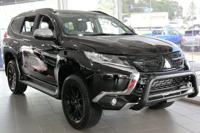 New Mitsubishi Pajero Sport QE MY19 Black Edition SAM (4x4) 7 Seat, 2019 Mitsubishi Pajero Sport QE MY19 Black Edition SAM (4x4) 7 Seat Pitch Black 8 Speed Automatic