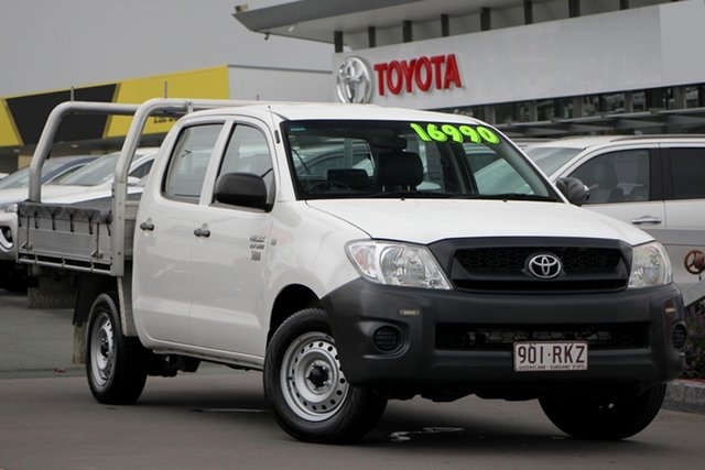 Used Toyota Hilux TGN16R MY10 Workmate 4x2, 2011 Toyota Hilux TGN16R MY10 Workmate 4x2 Glacier White 5 Speed Manual Utility