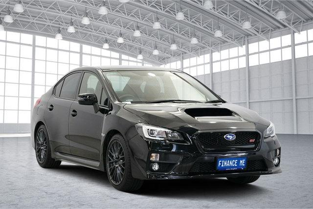 Used Subaru WRX V1 MY15 STI AWD, 2015 Subaru WRX V1 MY15 STI AWD Black 6 Speed Manual Sedan