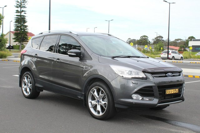 Used Ford Kuga TF MY15 Titanium AWD, 2015 Ford Kuga TF MY15 Titanium AWD Grey 6 Speed Sports Automatic Wagon