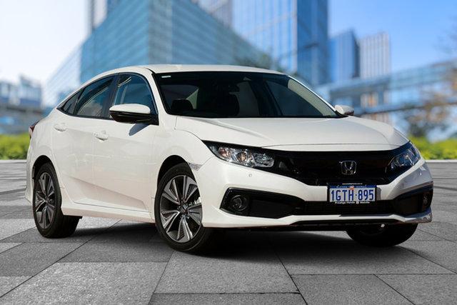 Demo Honda Civic 10th Gen MY19 VTi-L, 2019 Honda Civic 10th Gen MY19 VTi-L Platinum White 1 Speed Constant Variable Sedan