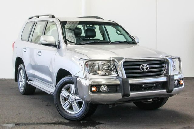 Used Toyota Landcruiser VDJ200R MY12 Altitude, 2012 Toyota Landcruiser VDJ200R MY12 Altitude Silver Pearl 6 Speed Sports Automatic Wagon