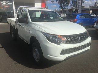 2018 Mitsubishi Triton MQ MY18 GLX White 5 Speed Manual Cab Chassis.