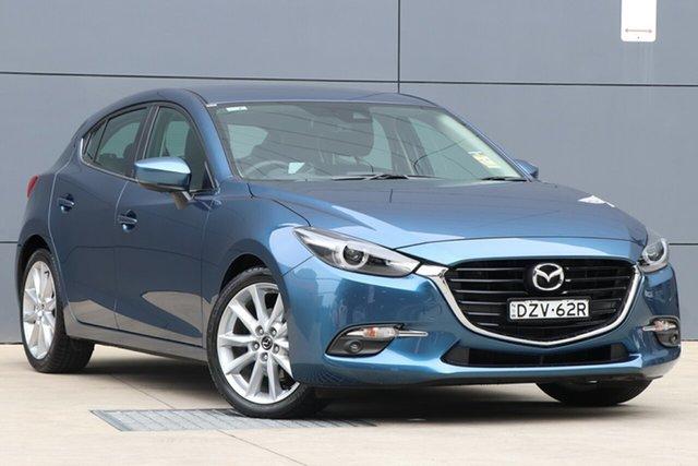 Demo Mazda 3 BN5438 SP25 SKYACTIV-Drive GT, 2018 Mazda 3 BN5438 SP25 SKYACTIV-Drive GT Eternal Blue 6 Speed Sports Automatic Hatchback