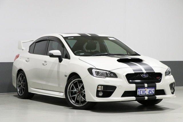 Used Subaru WRX MY15 STI Premium (AWD), 2015 Subaru WRX MY15 STI Premium (AWD) Pearl White 6 Speed Manual Sedan