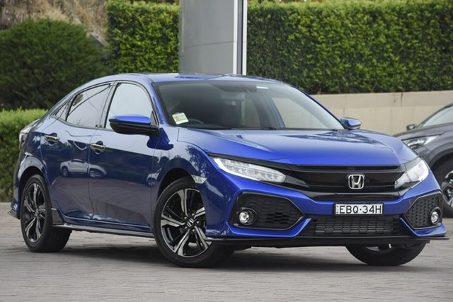 Demo Honda Civic 10th Gen MY18 RS, 2019 Honda Civic 10th Gen MY18 RS Brilliant Sporty Blue 1 Speed Constant Variable Hatchback
