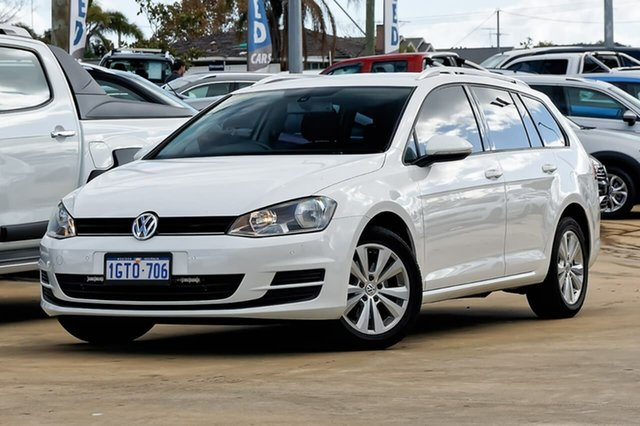 Used Volkswagen Golf VII MY15 90TSI DSG Comfortline, 2014 Volkswagen Golf VII MY15 90TSI DSG Comfortline White 7 Speed Sports Automatic Dual Clutch Wagon