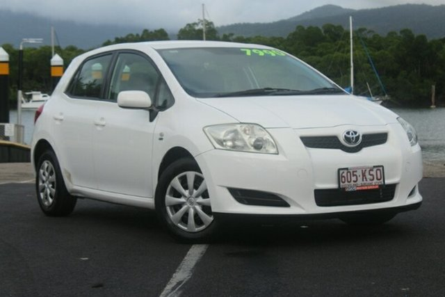 Used Toyota Corolla ZZE122R 5Y Ascent, 2007 Toyota Corolla ZZE122R 5Y Ascent White 5 Speed Manual Hatchback