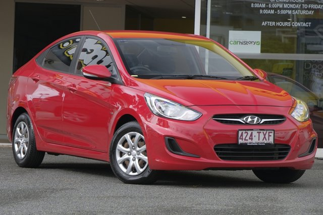 Used Hyundai Accent RB Active, 2013 Hyundai Accent RB Active Red 4 Speed Sports Automatic Sedan